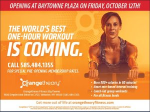 Orangetheory Fitness is coming on October 12th to Baytowne plaza!