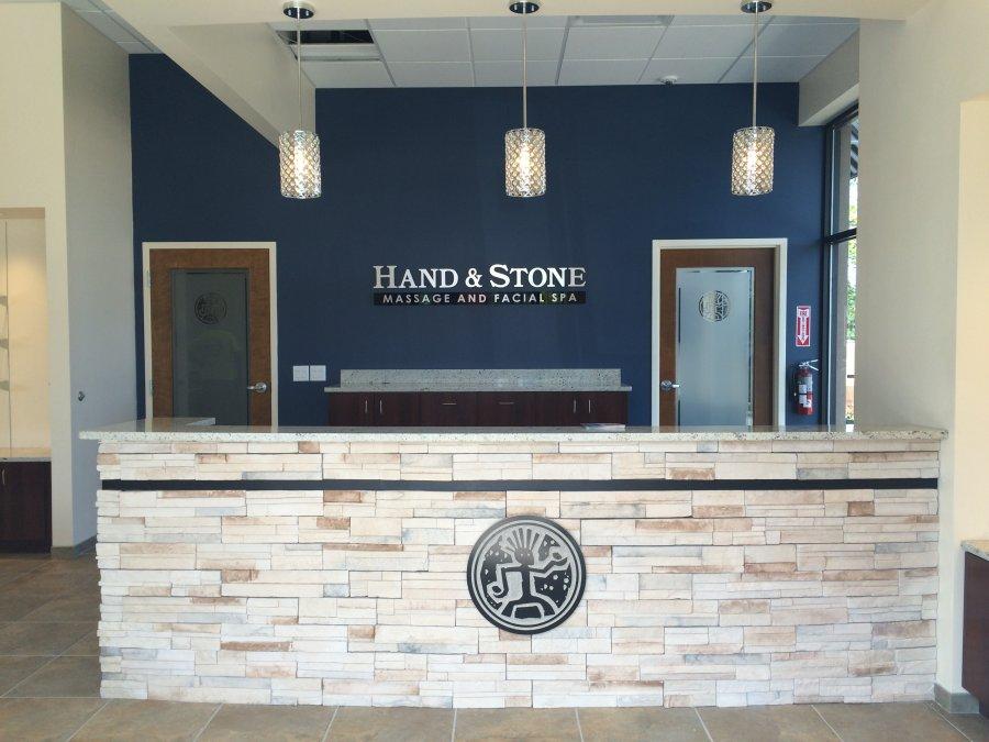 Hand & Stone interior