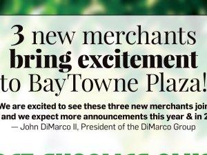 3 new merchants